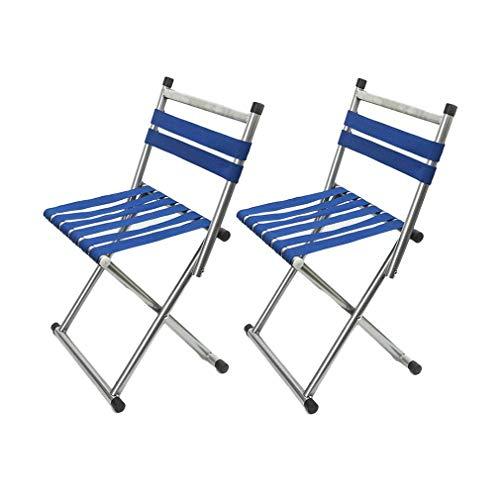 AGLZWY 2-delige set klapkrukken outdoor campingstoel met rugleuning tuinstoel kinderstoel gemakkelijk ideaal voor wandelen vissen festival BBQ picknick (kleur: blauw, afmetingen: 31 x 25 x 32 cm) 29X29X61CM Gtaglzwx5231r-4