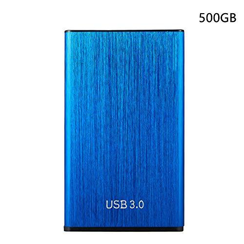 Centeraly - Disco duro externo portátil de 500 GB, 1 TB, 2 TB, USB 3.0, almacenamiento delgado para PC, Mac, ordenadores de sobremesa, Xbox-One, No nulo, azul, 1tb