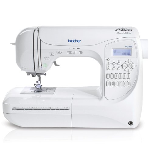 Brother Project Runway PC420PRW 294-Stitch Professional Grade Computerized Sewing Machine with 3...