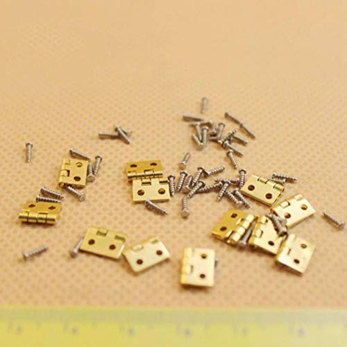Eamoney 1:12 Miniature:Hinge and Screws Mini Dollhouses Accessory DIY Dollhouse Dcor Toy House Model Kids Toy