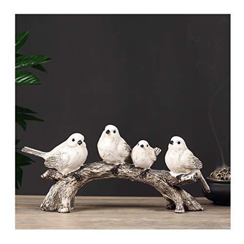 NYKK Ornamento de Escritorio Preciosa pequeña Figura pájaro, pájaros Decoración, Perfecta for la decoración casera, decoración de la Oficina artesanías decoración
