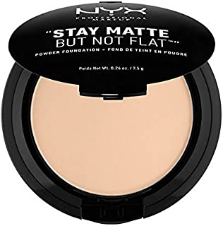 NYX PROFESSIONAL MAKEUP Stay Matte but not Flat Powder Foundation, Nude Beige, 0.26 Ounce