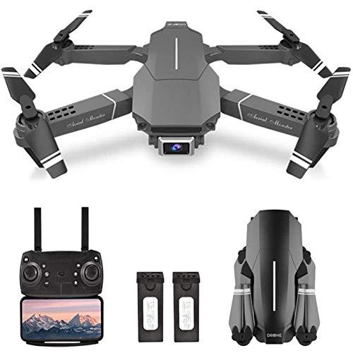 JJDSN Drone RC con cámara 4K HD, WiFi FPV Drone para Adultos, Quadcopter RC Plegable con FILP 3D, Modo sin Cabeza, retención de altitud, Vuelo en Pista, Bolsa de Almacenamiento, Negro, 2 baterías