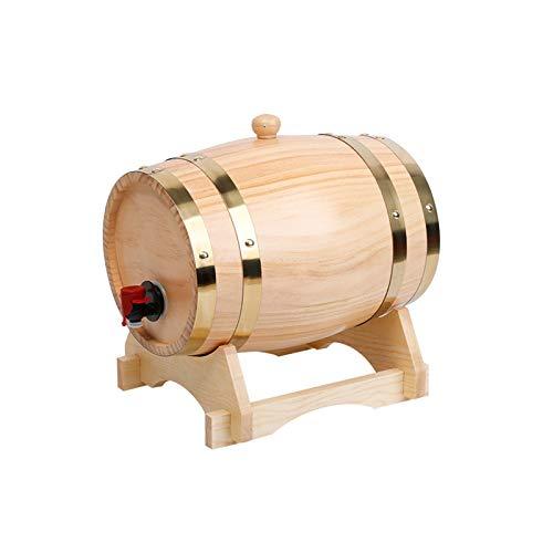 HWhome Oak Barrel 3L/5L/10L/15L/20L/30L/50L Wine Barrel Built-in Aluminum Foil Pad,Suitable For Winemaking Or For Storage Your Own Whiskey,Beer,Wine,Bourbon,Brandy(Free Wine Rack)(Size:10L)