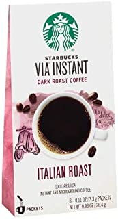 Starbucks VIA Instant Italian Roast Dark Roast Coffee (Pack of 12)