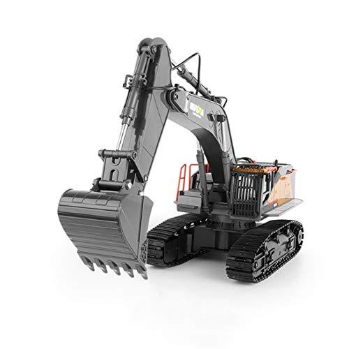 Markc Excavadora de aleaciones de control remoto de 22 vas 1:14 Excavadora de vehculos de ingeniera Modelo de nios juguetes juguetes de juguetes de cumpleaos infantiles para adultos y principiant