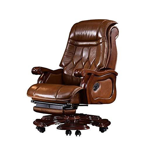 ZXNRTU Relájese cómodamente seguro Silla de la protuberancia, cuero masaje eléctrico Sillas Oficina Ejecutiva silla reclinable Silla giratoria minimalista Inicio reclinable Gerenciales giratoria de ma