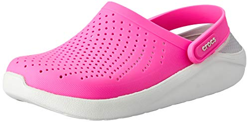 Crocs Unisex-Erwachsene LiteRide Clogs, Electric Pink/Almost White, 37/38 EU