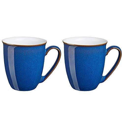 Denby Azure, Steingut, Königsblau, 2 Coffee Mugs