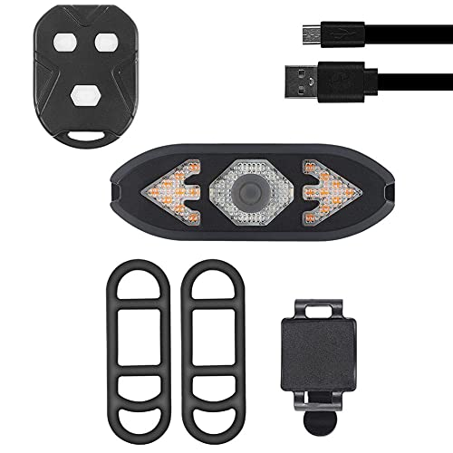 Aiyrchin Luces De Señal De Giro De La Bicicleta De Control Remoto Led De Control Remoto USB Lámpara Trasera Recargable con Timbre