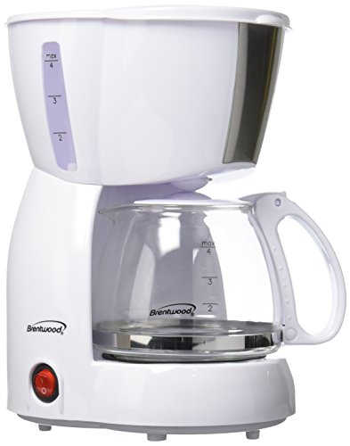 Brentwood 4-Cup Coffee Maker (White)