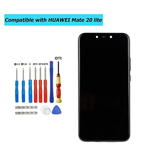 Upplus vervanging LCD-scherm compatibel met Huawei Mate 20 Lite SNE-LX1 SNE-LX2 SNE-LX3 INE-LX2 vervangingsonderdeel reparatie display LCD touchscreen met frame met toolkit (zwart)