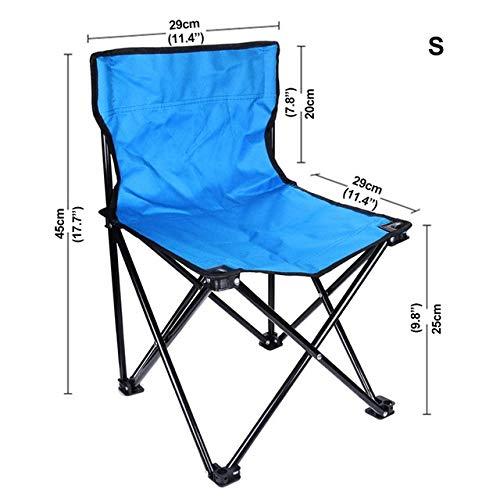 Yqs Sillas Plegables El Respaldo del sillón Acabado Sillas Silla Plegable portátil de Playa al Aire Libre Que acampa yendo con Mochila de Peso Ligero de jardín (Color : S)