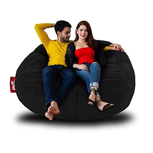 Sillón con cama Tamaño Queen color negro hasta para dos personas, ideal para adolescentes y adultos con relleno de Espuma de Memoria,...