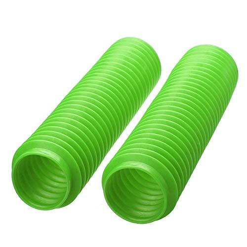 For pits motocrós de ATV de la motocicleta Frente Tenedor cubierta polainas de choque a prueba de polvo del protector de la manga Robusto y duradero (Color : Green)
