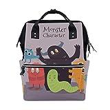 Funny Monster - Mochila para pañales para mamá, tamaño grande, unisex, para el cuidado del bebé, para viajes, escuela, portátil