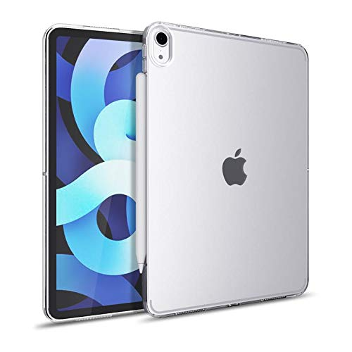 iPad air 4 Case Compatible with New Apple Pencil Charging Soft TPU Slim Cover for iPad 10.9 2020 Clear