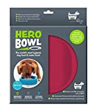 hownd Hero Dog Bowl Pet Products- Antimicrobial Dog Bowl - Actively Kills Microbes, Such as Bacteria, Mold and Fungi, up to 99.99% on Bowls Surface- Hygienic Dog Bowl (Large, Raspberry Rose)