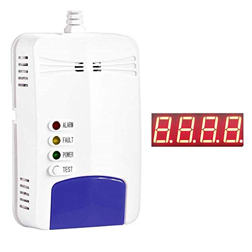 Natural Gas Detector,Propane Detectors for Home,Natural Gas Propane Leak Alarm for Home Kitchen, Detector for Displaying Natural Gas Concentration (Blue)