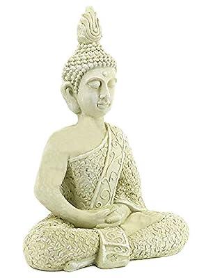 Bellaa 23608 Buddha Statues Meditation Outdoor Garden Decor Lucky Budha Japanese Zen Buddhist Presents for Mom Gifts for Grandma 22 inch