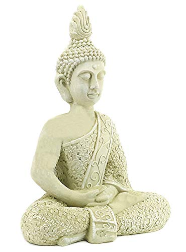Bellaa 23608 Buddha Statues Meditation Outdoor Garden Decor Lucky Budha Japanese Zen Buddhist Presents for Mom Gifts for Grandma 22 inch