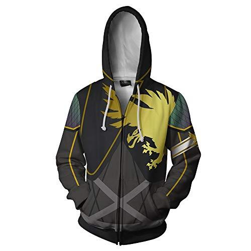 Destiny 2 Mantel Kapuzenjacke Persönlichkeit Druck Jacke Casual Sweatshirt Mantel Langarm for Männer und Frauen Kapuzenpullover (Color : A01, Size : XL)