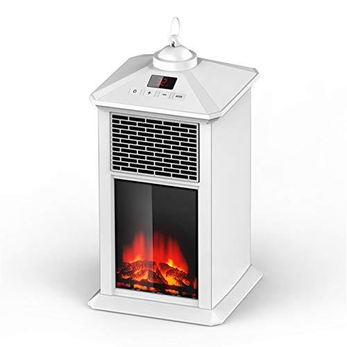 Calentador eléctrico calentador de calefacción Estufa de chimenea Calentadores portátiles para la casa con efecto de termostato termostato de efecto de llama 3D 400W control digital negro con