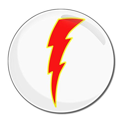 Lightning Bolt Red - Miroir compact rond de 55 mm