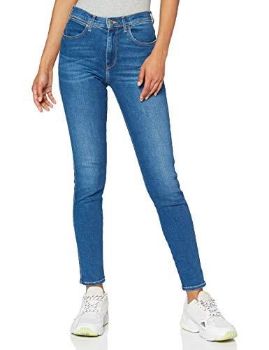 Wrangler High Rise Skinny Jeans, Blu (Mid Indigo X8e), 29W / 32L Donna