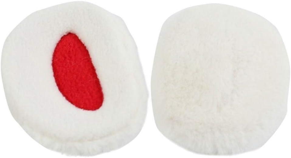 ZYXLN-Earmuffs,Bandless Ear Warmers Ear Muffs for Men & Women Fleece Bandless Ear Warmers Earmuffs Winter Ear Covers Outdoor Fleece Ear Muffs for Men Women Kids (Color : White, Size : L)