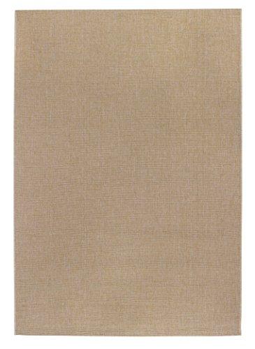 Webteppich Kurzflor Flachgewebe Uni beige 133 x 190 cm . Weitere Farben und Größen verfügbar