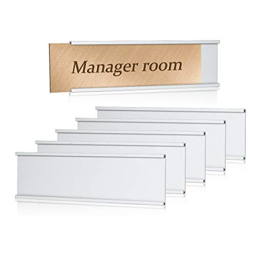 Lenink 6Pcs Name Plate Holder,Wall Mount Office Door Nameplate Holders