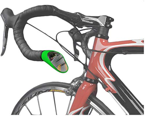 Sprintech Road Drop Bar Rearview Bike Mirror - Safety Bicycle Mirror - Single Dropbar (Green)