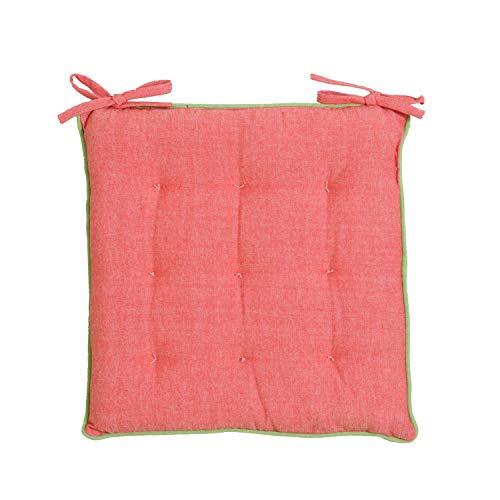 Cuscino sedia Vida Loca rosso verde in cotone e poliestere, da 38x38 cm Multicolore