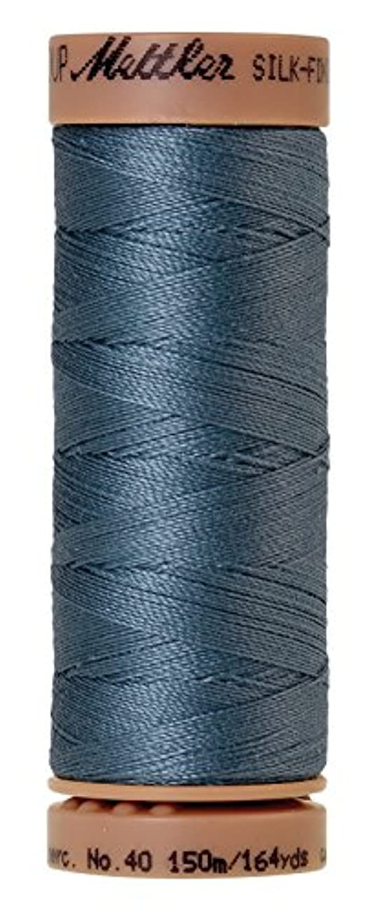 Mettler Silk-Finish 40 Weight Solid Cotton Thread, 164 yd/150m, Laguna