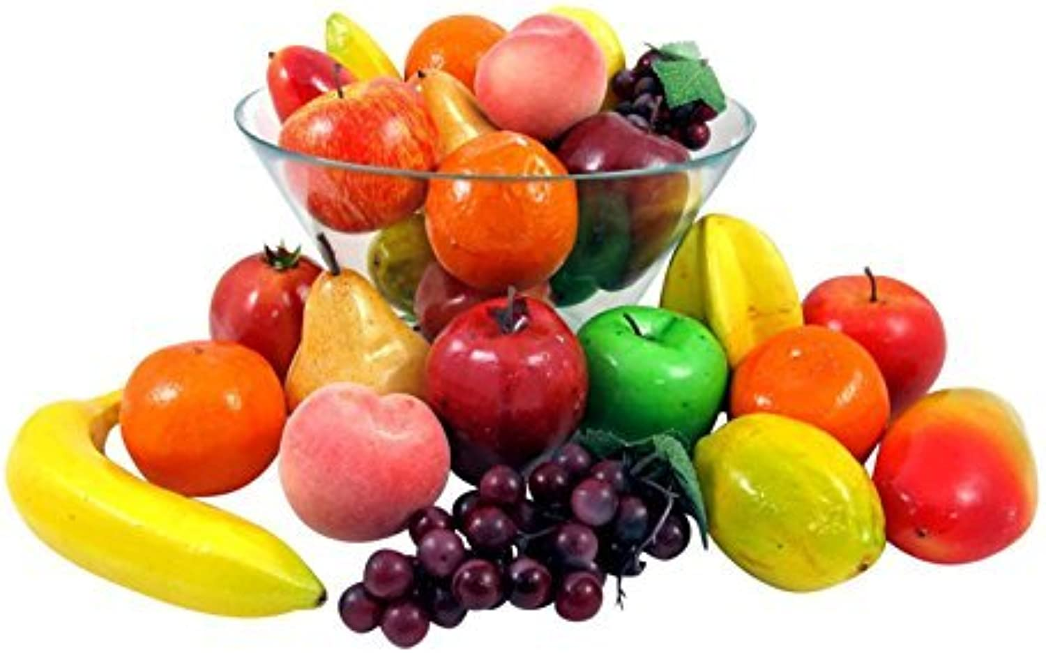 Set of 26 Realistic Artificial Fruits Play Food Set by Liberty Imports
