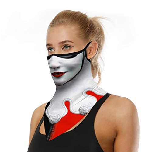 URIBAKY Bedruckte Multifunktionstuch Gesichtsmaske Atmungsaktiv Schlauchtuch Damen Halstuch Schutzmasken,Herren Schlauchschal Outdoor UV Staubschutz Mund-Tuch Motorrad Fahrrad Joggen Schal (A L)