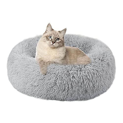 cuccia cane blu Annety Cuccia Gatto Cuccia per Cani Gatto Rotondo Grande Letto Peluche Ultra-Morbido da Interno Animale Domestico