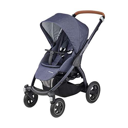 Maxi-Cosi Stella Kinderwagen, ab der Geburt nutzbar (0-15 kg), mit extra großem Verdeck und Outdoor-Reifen, extrem wendig, sparkling blue