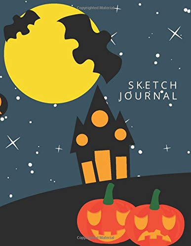 Sketch Journal: Draw and Write Sketchbook Journal, Half Sketch Paper and Half College Ruled Diary, Creative Notebook for Kids and Teens, 8.5x11, 120 ... Doodling, Drawing, and Notes, Halloween Theme