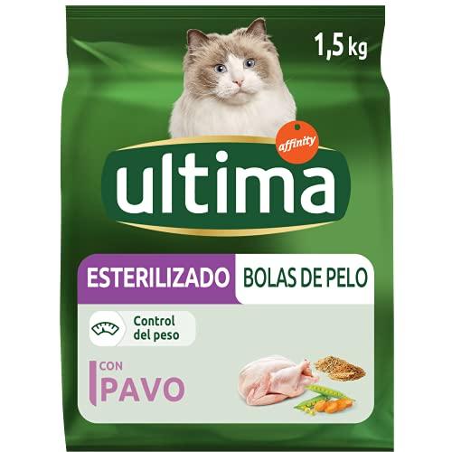 Ultima Pienso para Gatos Esterilizados Bolas de Pelo con Pavo - 1500 gr 🔥