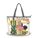 DXG1 - Bolso de tela para mujer Color-1 L (17.72'x5.12'x13'/45x13x33 cm)