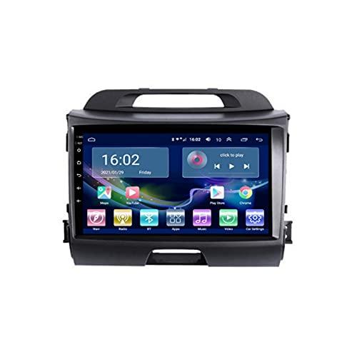 Auto Radio Stereo Sat nav Per Sportage 2010-2016 Android 10.0 GPS Navigazione Multimedia Video Player Supporto 4G+Wifi/SWC/Carplay/Bluetooth/DSP/Touch Screen/mirror link,8 Core 4G+WiFi: 4+64GB