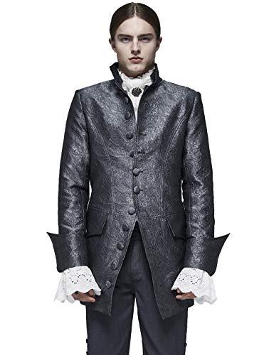 Punk Rave Abrigo rococ de jacquard para hombre, estilo gtico, caballero, palacio, decoracin de fiesta, cena