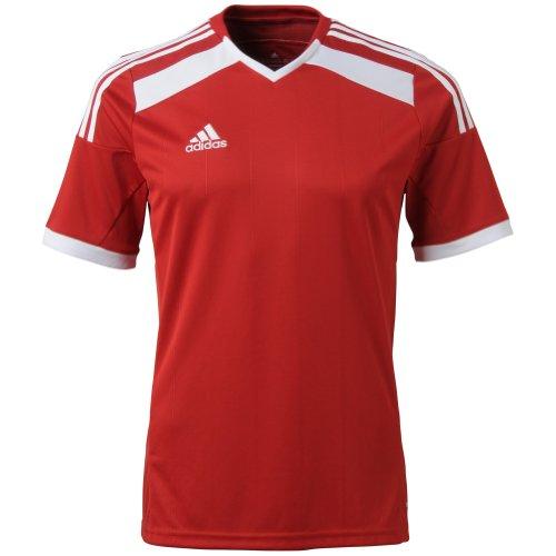 Adidas - Camiseta de fútbol para niños (talla grande), diseño Climacool Regista 14, XL, Rojo, blanco