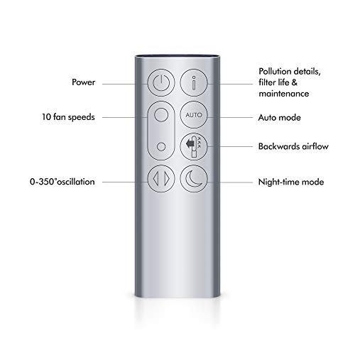 Dyson 310124-01 Pure Cool, TP04 - HEPA Air Purifier and Tower Fan, White/Silver