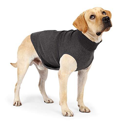 LIANZIMAU Hunde-Jacke mit Angstzustände, vom Tierarzt empfohlen; weich, atmungsaktiv, Anti-Angstzustände; lindert Stress, um Hunde beruhigend zu halten (M, grau)