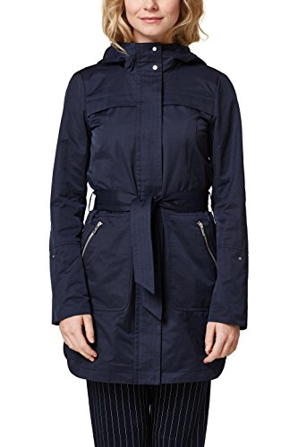 edc by ESPRIT Damen 028CC1G008 Mantel, Blau (Navy 400), Small