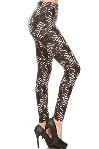 Leggings Depot NEW High Waist Popular Print Women's Leggings Pants Style Batch2 (N348)