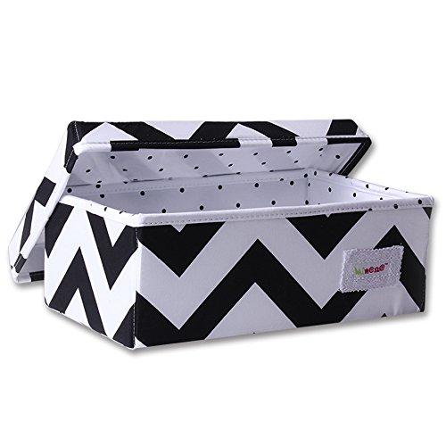 Opbergdoos voor stiften (klein, zwart en wit, zigzagpatroon)